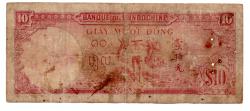 Indochina Francesa - 1947 - 10 Piastres - Cédula Estrangeira