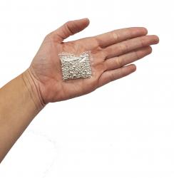 Prata - (R$ 7,96 o grama) - Prata Granulada - 50 Gramas de Prata Pura .999 - (Pureza 99,9%)