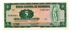 Nicarágua - 5 Córdobas - Cédula Estrangeira