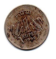 Índia - 1990 - 1 Rupee