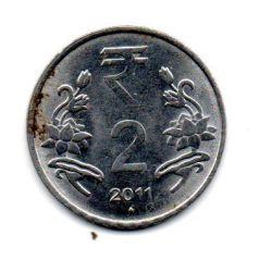 Índia - 2011 - 2 Rupees