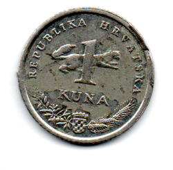 Croácia - 2007 - 1 Kuna