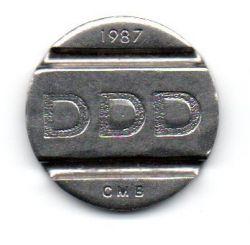 Ficha Telefonica  - DDD - CMB - Sistema Telebras - 1987