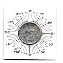 Cuba - 1971 - 5 Centavos  - ERRO: Reverso Inclinado (Quase Horizontal)