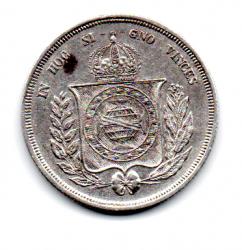 1861 - 500 Réis - Prata - Moeda Brasil Império