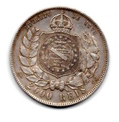 1888 - 2000 Réis - Com Rabicho - ERRO: Cunho Trincado - Prata - Moeda Brasil Império