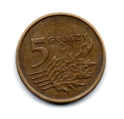 Polônia - 2000 - 5 Groszy