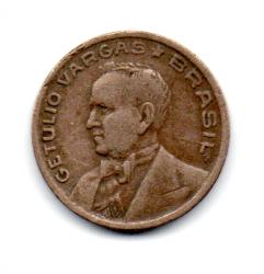 1943 - 50 Centavos - Níquel Rosa - ERRO: Cunho Trincado - Moeda Brasil
