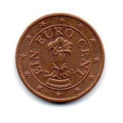Áustria - 2002 - 1 Euro Cent