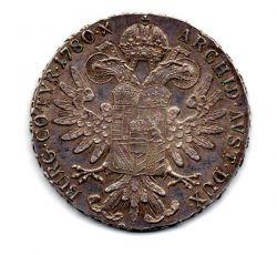 Monarquia Austro-Hungara - 1860 à 1900 - Restrike Oficial de 1 Thaler Maria Theresa de 1780 - Vienna Mint - Variante H49a - Prata .833 - Aprox 28,06 g