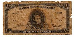 Chile - ½ Escudo - Cédula Estrangeira