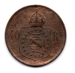 1879 - 40 Réis  - Moeda Brasil Império