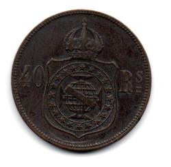 1880 - 40 Réis  - Moeda Brasil Império