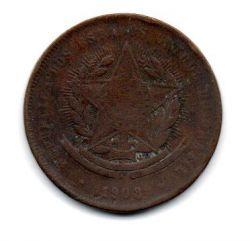 1908 - 20 Réis  - Moeda Brasil