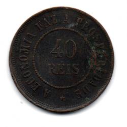 1909 - 40 Réis  - Moeda Brasil