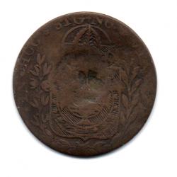 1827C - 40 Réis - C/ Carimbo Geral de 10 - Cuiabá - Moeda Brasil Império