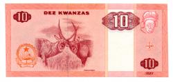 Angola - 10 Kwanzas - Cédula Estrangeira