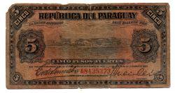 Paraguai - 5 Pesos Fuertes - Cédula Estrangeira