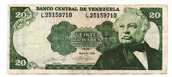 Venezuela - 20 Bolívares - Cédula Estrangeira