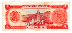 Venezuela - 5 Bolívares - Cédula Estrangeira