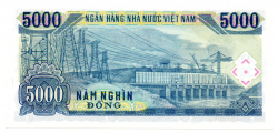 Vietnã - 5.000 Dong - Cédula Estrangeira