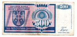 Bosnia Herzegovina - 500 Dinara - Cédula Estrangeira