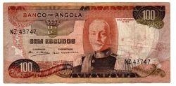 Angola - 100 Escudos - Cédula Estrangeira  - BC