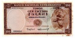 Timor - 100 Escudos - Cédula Estrangeira
