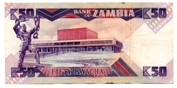 Zâmbia - 50 Kwacha - Cédula Estrangeira - MBC/SOB