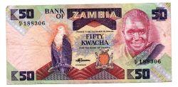 Zâmbia - 50 Kwacha - Cédula Estrangeira - MBC
