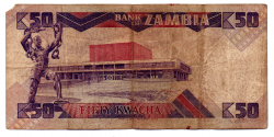 Zâmbia - 50 Kwacha - Cédula Estrangeira - R