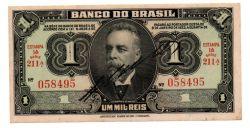 .R193a- 1 Mil Réis - 1° Estampa - Assinada a mão / Autografada - Série 211 - Campos Salles - Data: 1923 - Mbc/Sob