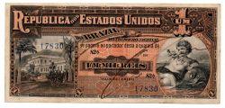.R076 - 1 Mil Réis - 9° Estampa - Assinada a mão / Autografada - Série 82 - Data: 1918 - Mbc