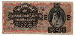 .R084 - 2 Mil Réis - 11° Estampa - Assinada a mão / Autografada - Série 29 - Data: 1918 - Bc