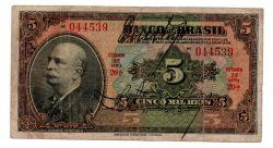 .R203a - 5 Mil Réis - 2° Estampa - Assinada a mão / Autografada - Série 20 - Barão do Rio Branco - Data: 1930 - Bc
