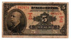 .R195a - 5 Mil Réis - 1° Estampa - Assinada a mão / Autografada - Série 25 - Barão do Rio Branco - Data: 1923 - R