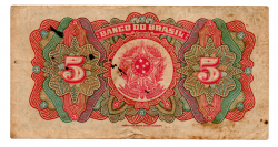 .R195a - 5 Mil Réis - 1° Estampa - Assinada a mão / Autografada - Série 31 - Barão do Rio Branco - Data: 1923 - Mbc
