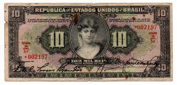 .R184 - 10 Mil Réis - 1° Estampa - Duas Chancelas - Série 5 - Data: 1927 - Bc