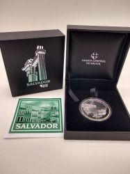 2015 - 5 Reais - Comemorativa - Salvador - Patrimônio da Humanidade - Unesco - Prata .925 - Aprox. 27g - 40mm
