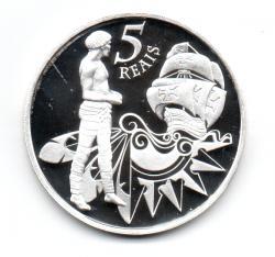 2000 - 5 Reais - Comemorativa V Centenário do Descobrimento do Brasil - Brasil 500 anos - Prata .999 - Aprox. 28g - 40mm