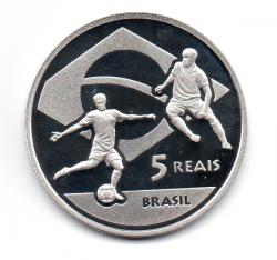 2010 - 5 Reais - Copa do Mundo da Fifa - África do Sul - Prata .925 - Aprox. 27g - 40mm