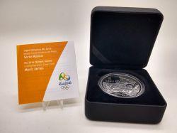 2015 - 5 Reais - Comemorativa Olimpíadas 2016 - Chorinho - Voleibol de Praia em Copacabana - Prata .925 - Aprox. 27g - 40mm