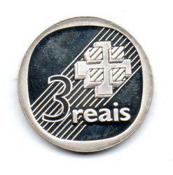 1995 - 3 Reais - Comemorativa 30 Anos do Banco Central do Brasil - Prata .925 - 11,5g - Aprox. 28mm