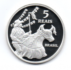 2014 - 5 Reais - Comemorativa - São Luís - Patrimônio da Humanidade - Unesco - Prata .925 - Aprox. 27g - 40mm