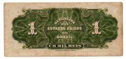 .R077 - 1 Mil Réis - 10° Estampa - Assinada a mão / Autografada - Série 10 - Regente Feijó - Data: 1919 - Mbc/Sob