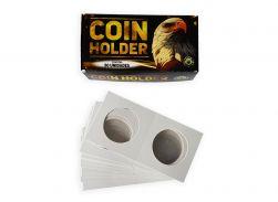 Coin Holder Águia (1 Caixa com 50 Coin Holders de Grampear)