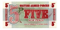 Reino Unido - 5 New Pence - Cédula Estrangeira