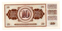 Iugoslávia - 10 Dinara  - Cédula Estrangeira