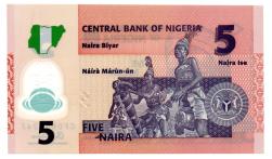 Nigéria - 5 Naira - Cédula Estrangeira