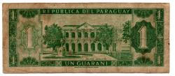 Paraguai - 1 Guarani - Cédula Estrangeira - BC
